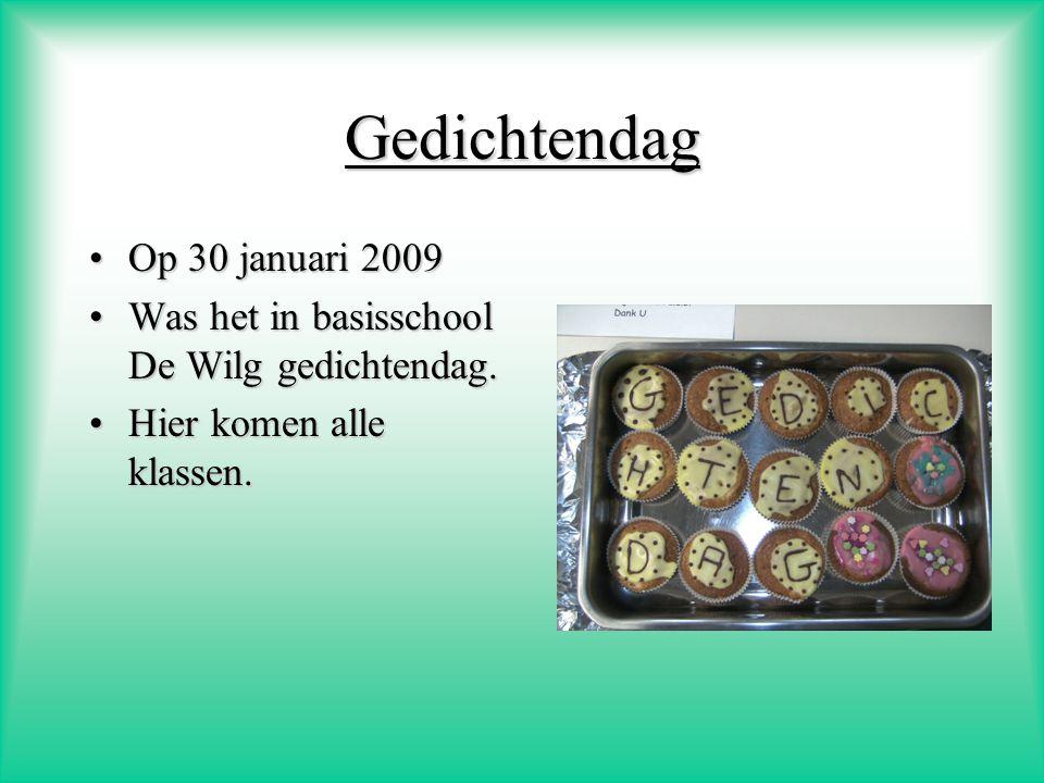 Gedichtendag Op 30 januari 2009