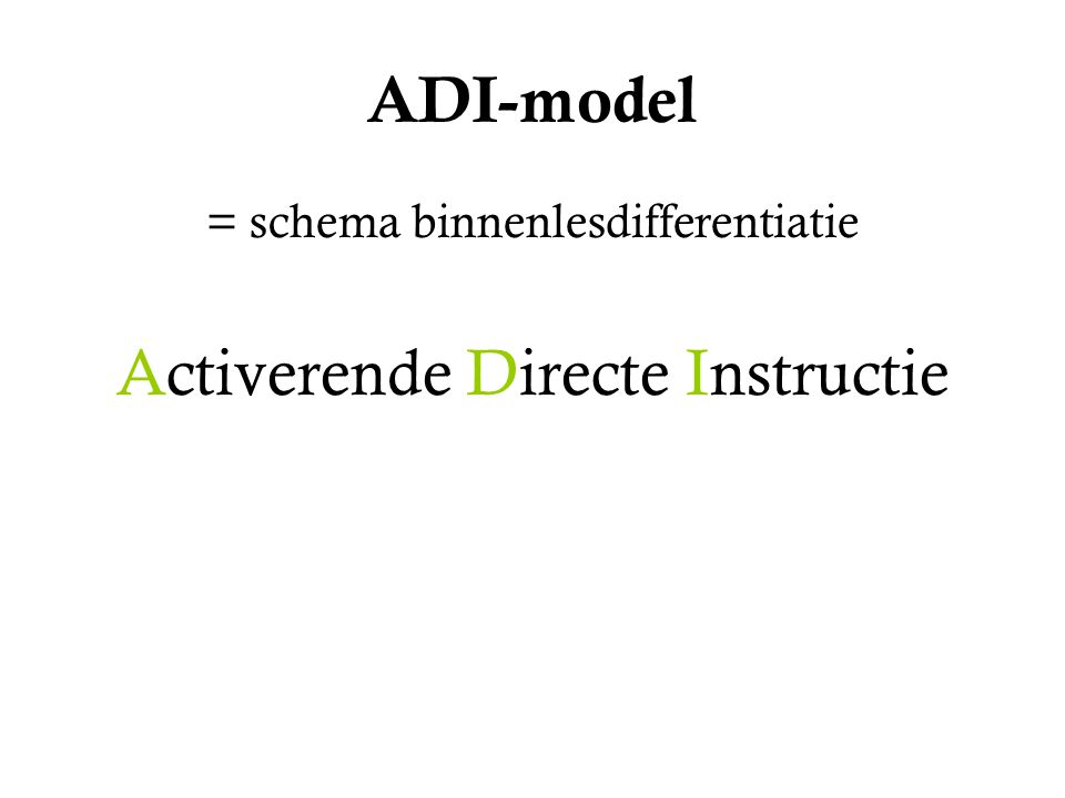 Activerende Directe Instructie