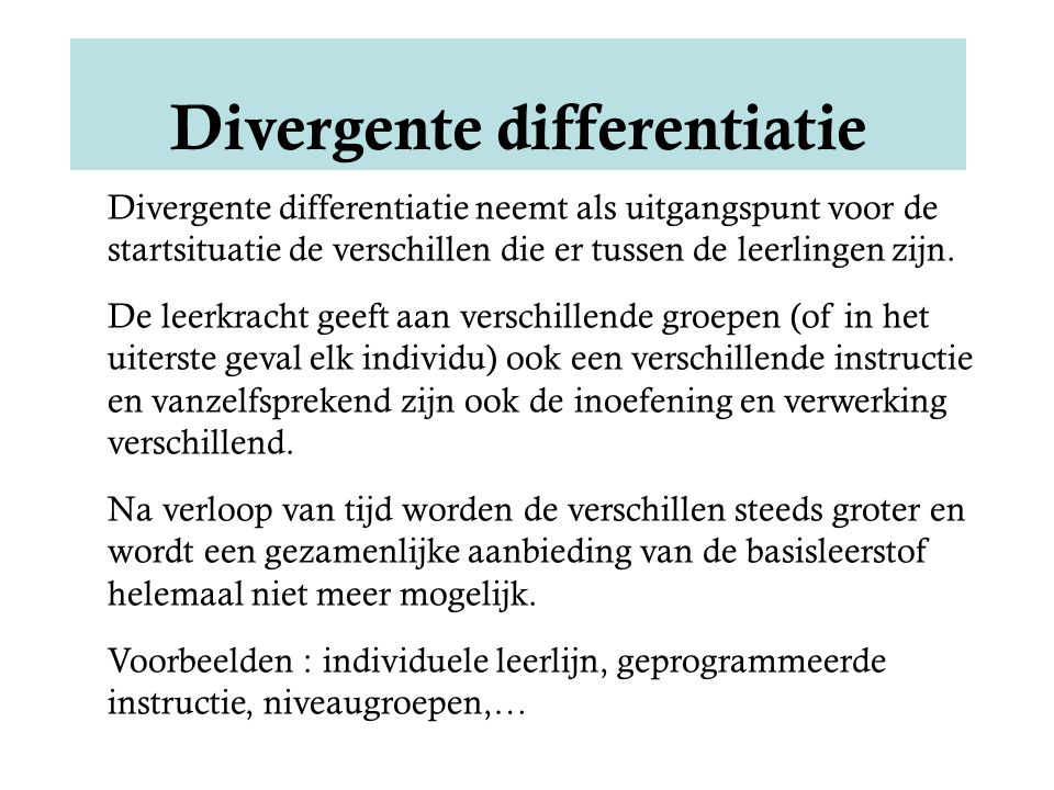 Divergente differentiatie