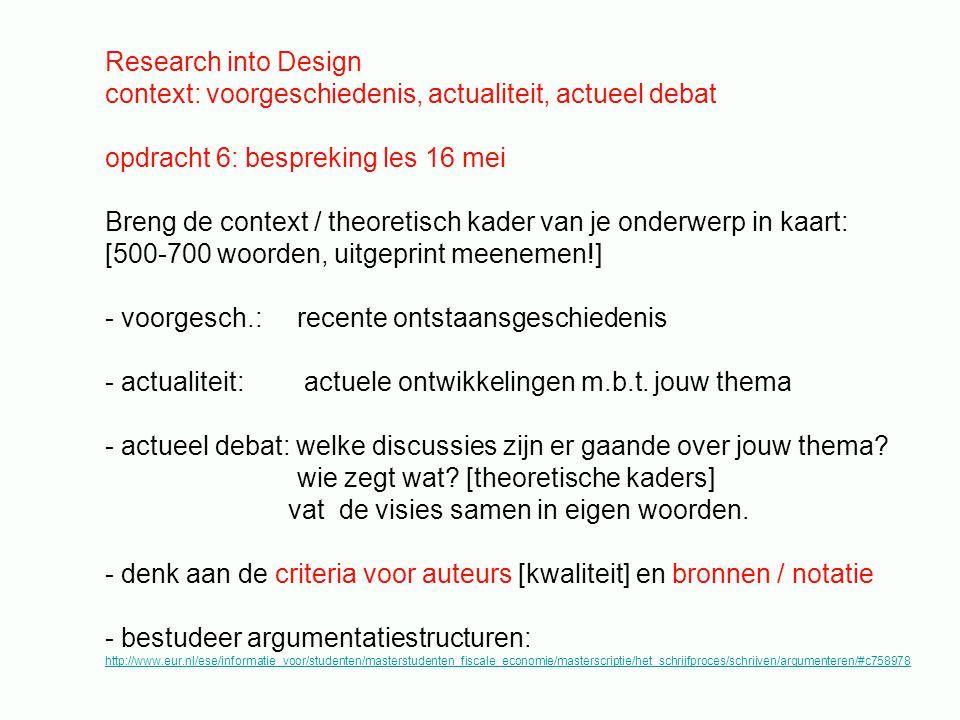 context: voorgeschiedenis, actualiteit, actueel debat