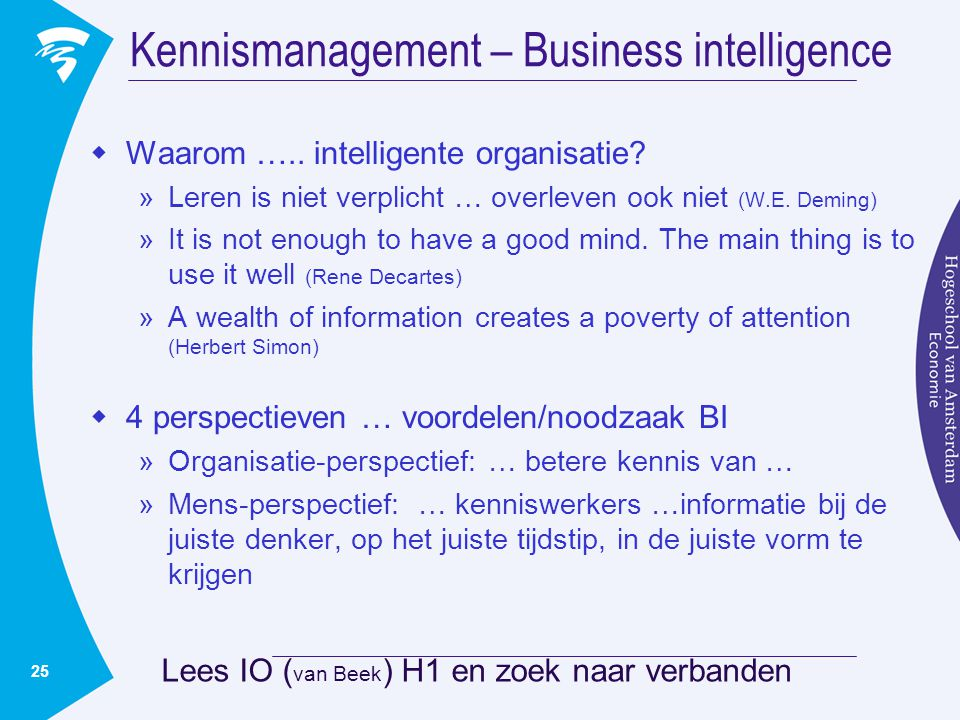 Kennismanagement – Business intelligence