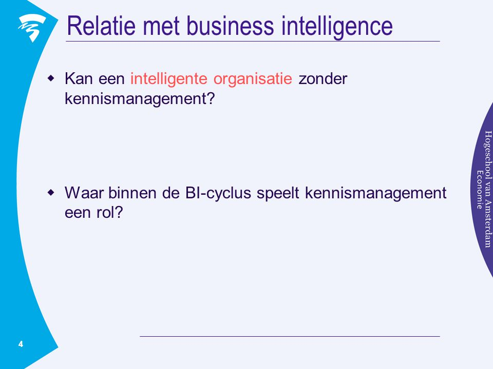 Relatie met business intelligence