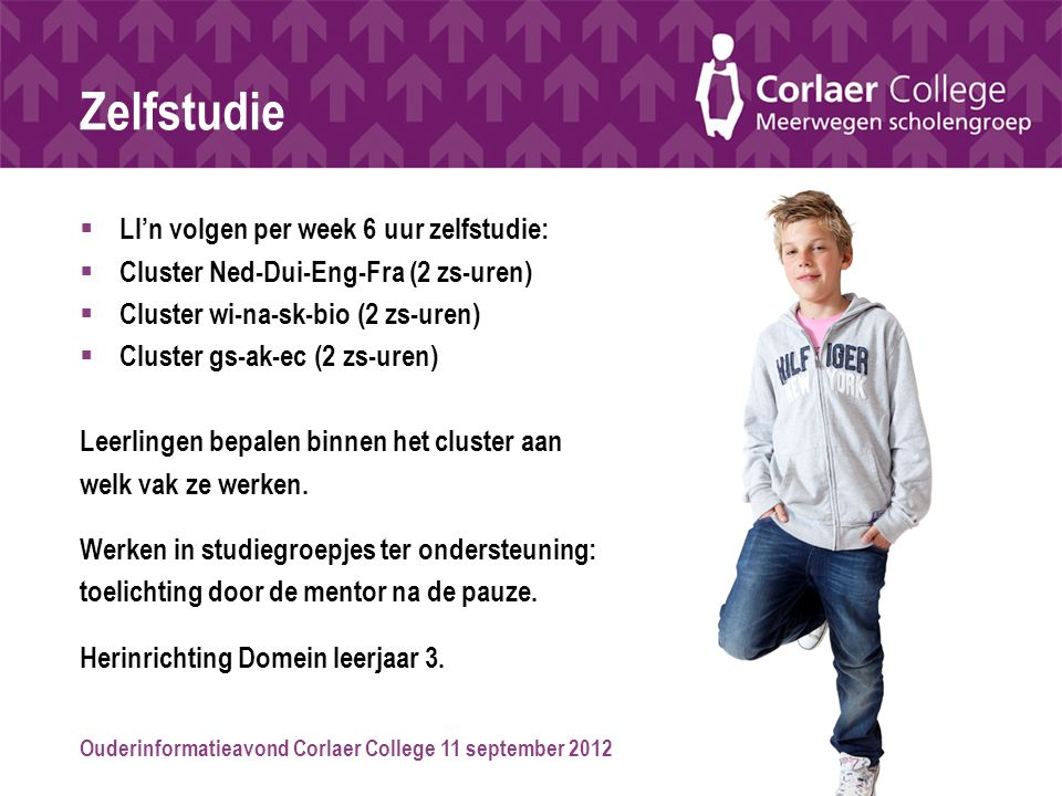 Zelfstudie Ll'n volgen per week 6 uur zelfstudie: