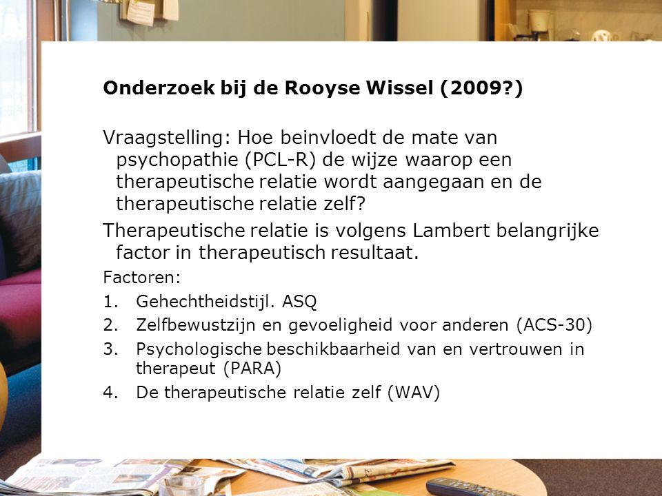 Onderzoek bij de Rooyse Wissel (2009 )