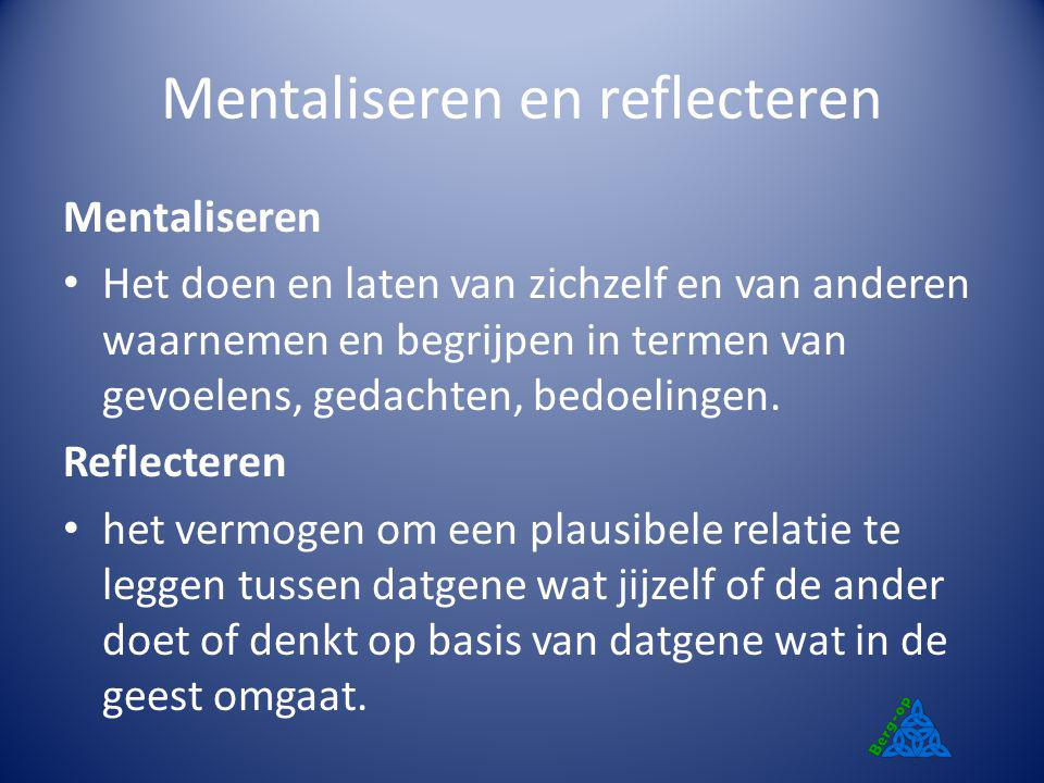Mentaliseren en reflecteren