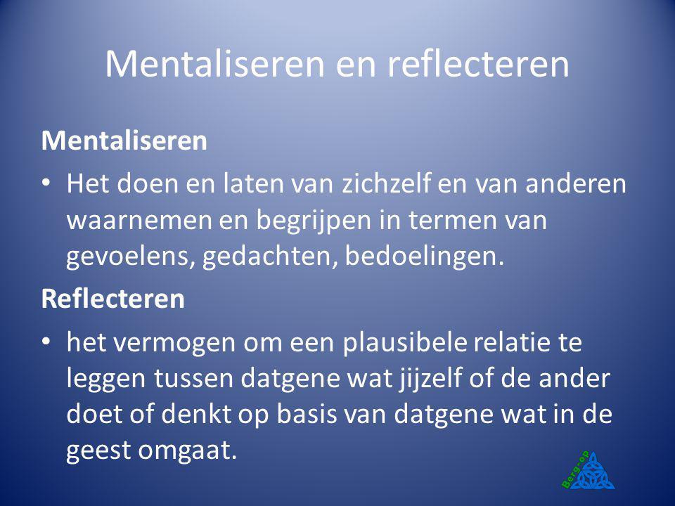 Mentaliseren en reflecteren