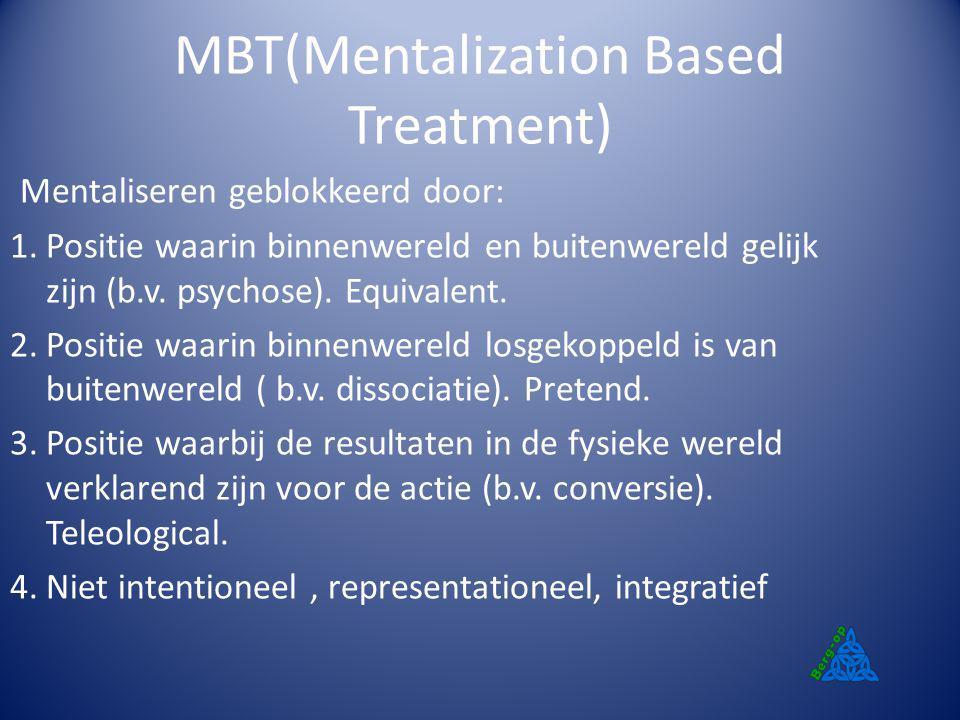 MBT(Mentalization Based Treatment)