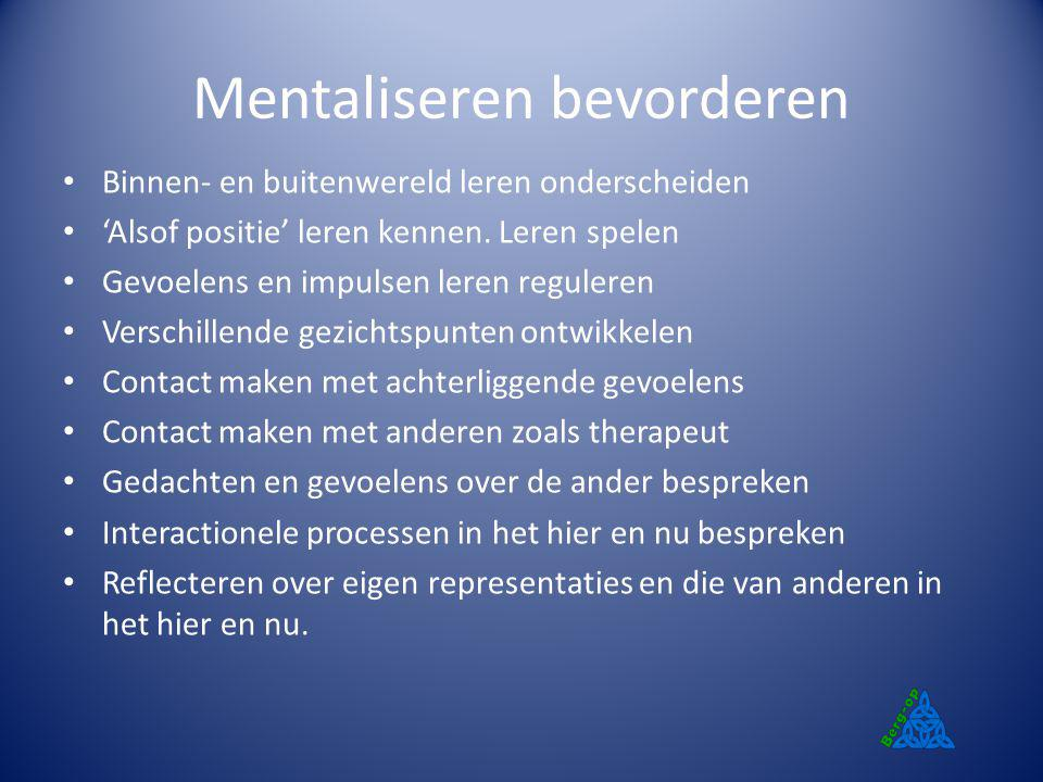 Mentaliseren bevorderen