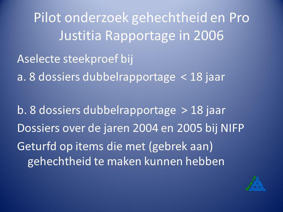 Pilot onderzoek gehechtheid en Pro Justitia Rapportage in 2006