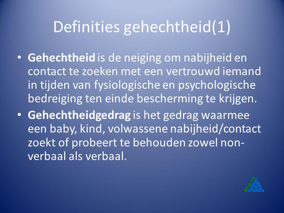 Definities gehechtheid(1)