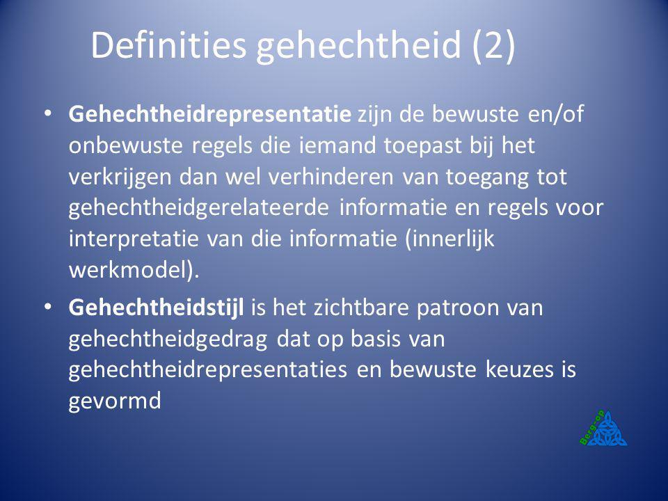 Definities gehechtheid (2)