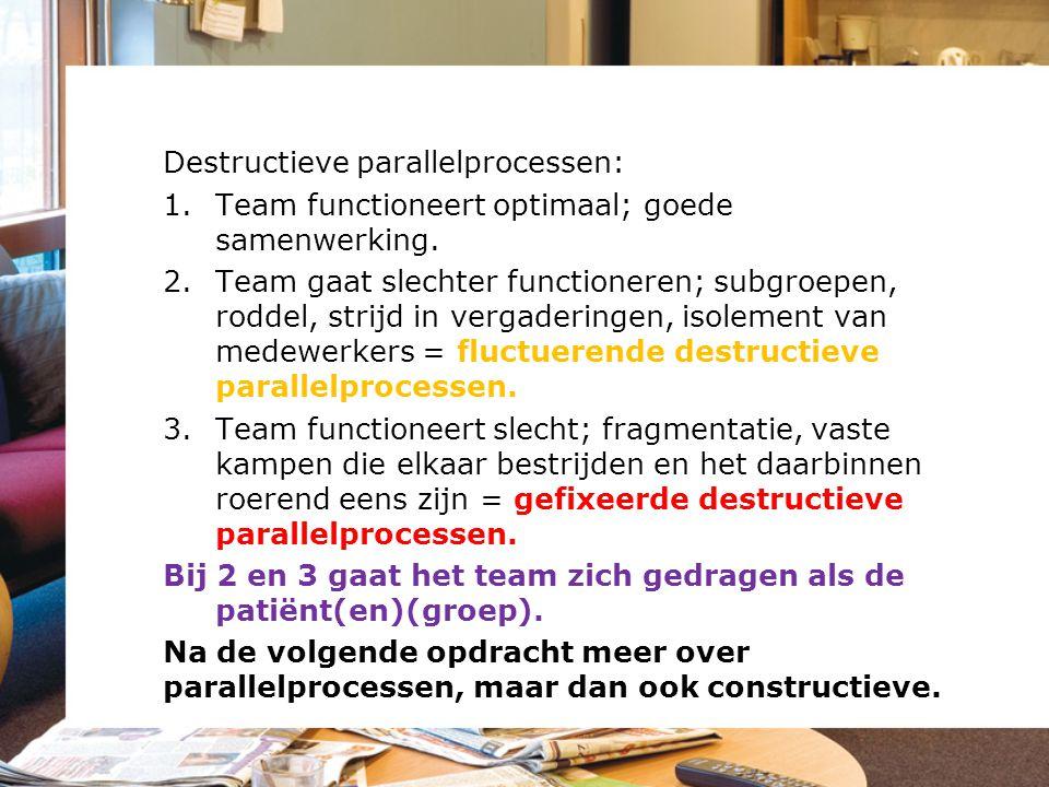 Destructieve parallelprocessen: