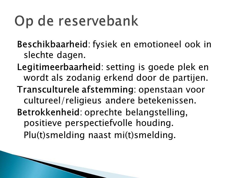 Op de reservebank