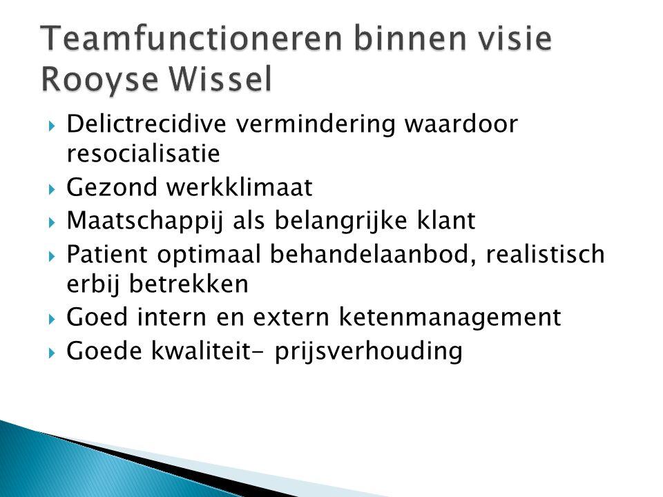 Teamfunctioneren binnen visie Rooyse Wissel