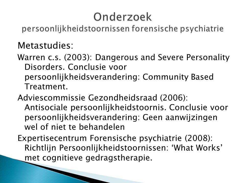 Onderzoek persoonlijkheidstoornissen forensische psychiatrie