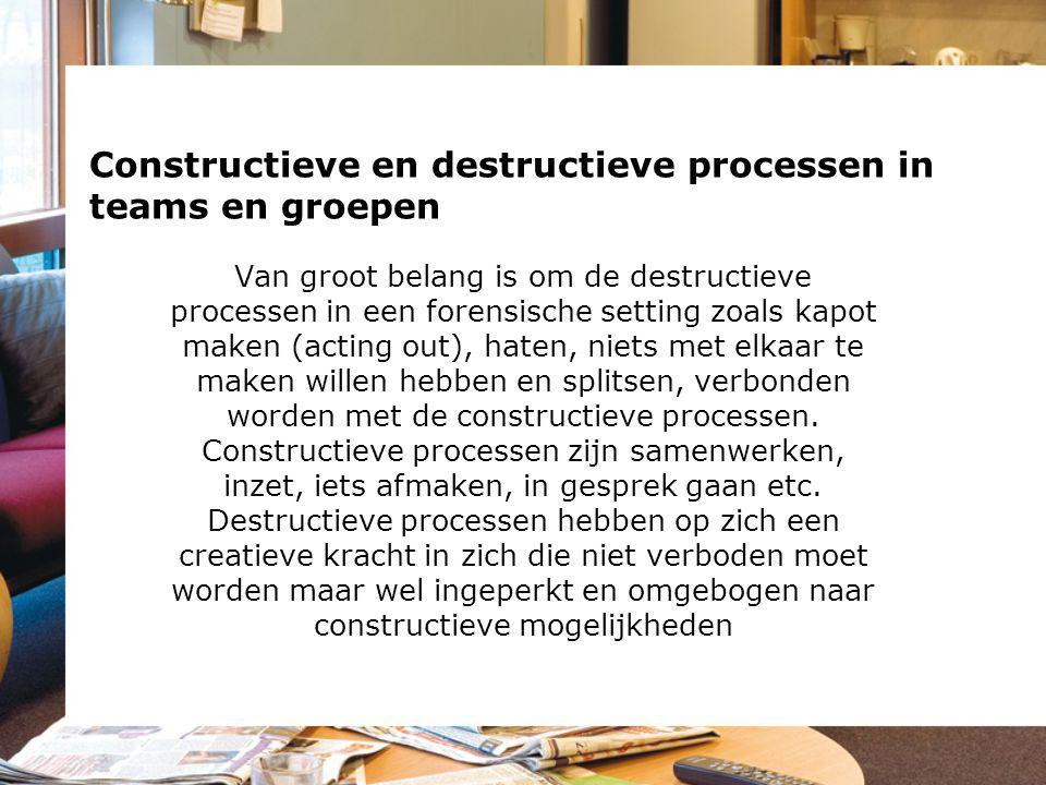 Constructieve en destructieve processen in teams en groepen