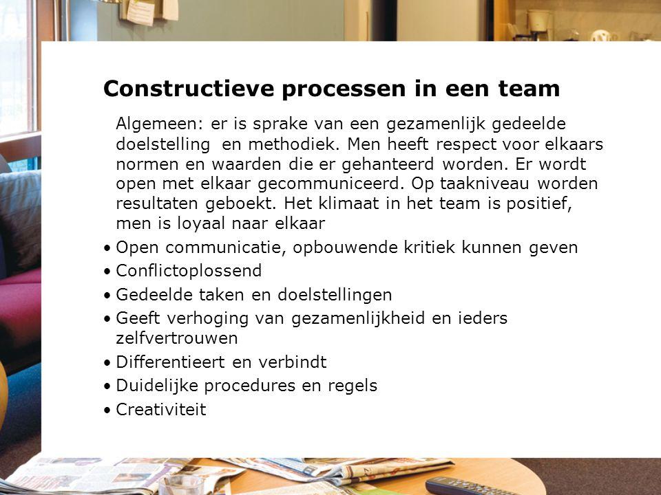 Constructieve processen in een team