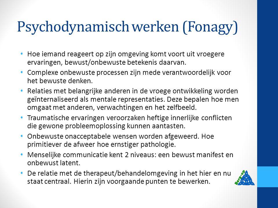 Psychodynamisch werken (Fonagy)