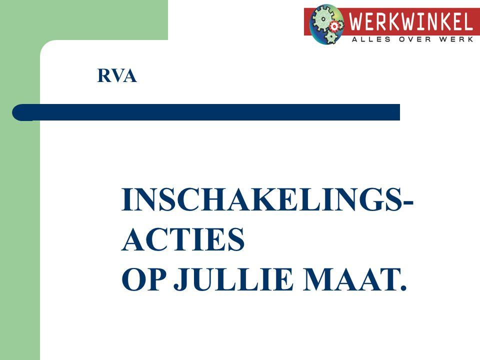RVA INSCHAKELINGS- ACTIES OP JULLIE MAAT.