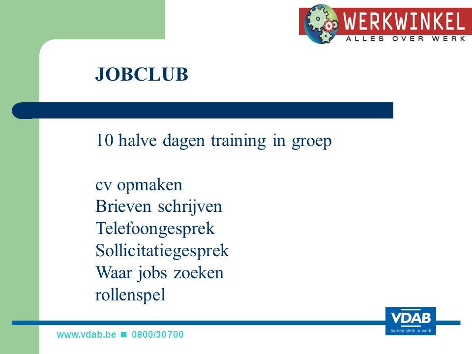 JOBCLUB 10 halve dagen training in groep cv opmaken Brieven schrijven