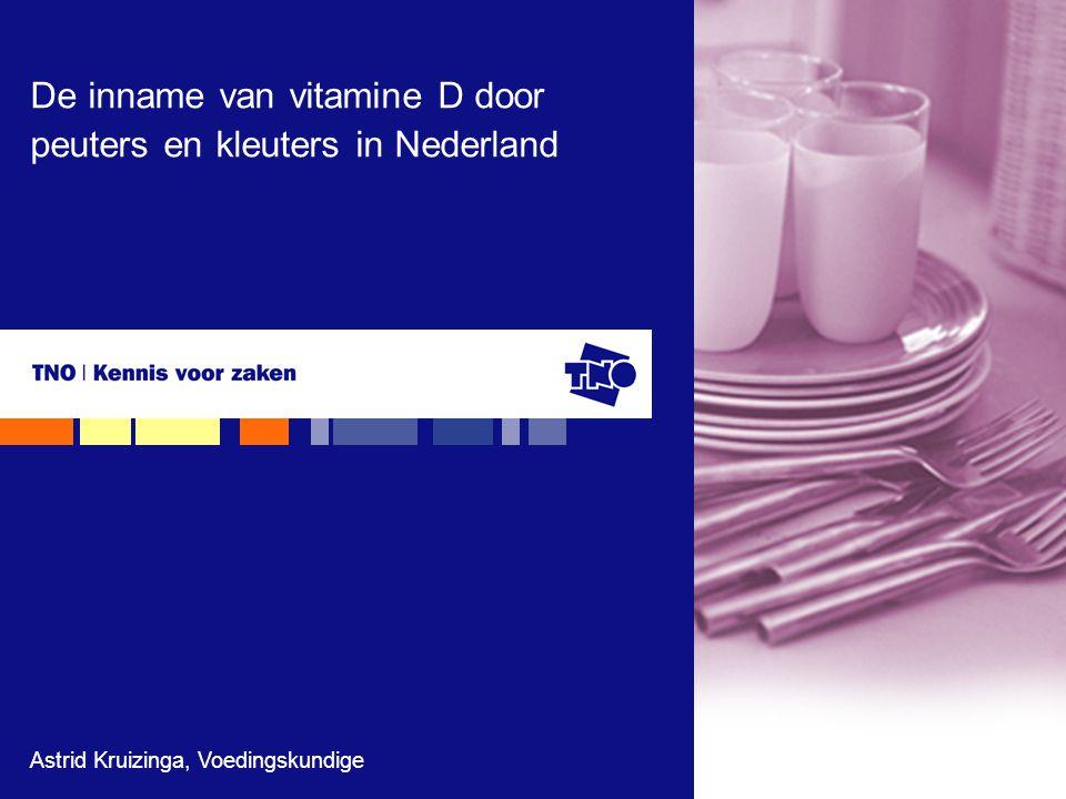De inname van vitamine D door peuters en kleuters in Nederland