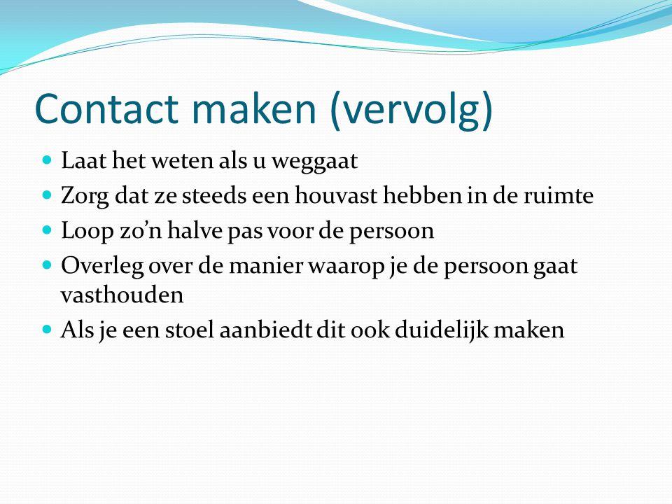 Contact maken (vervolg)