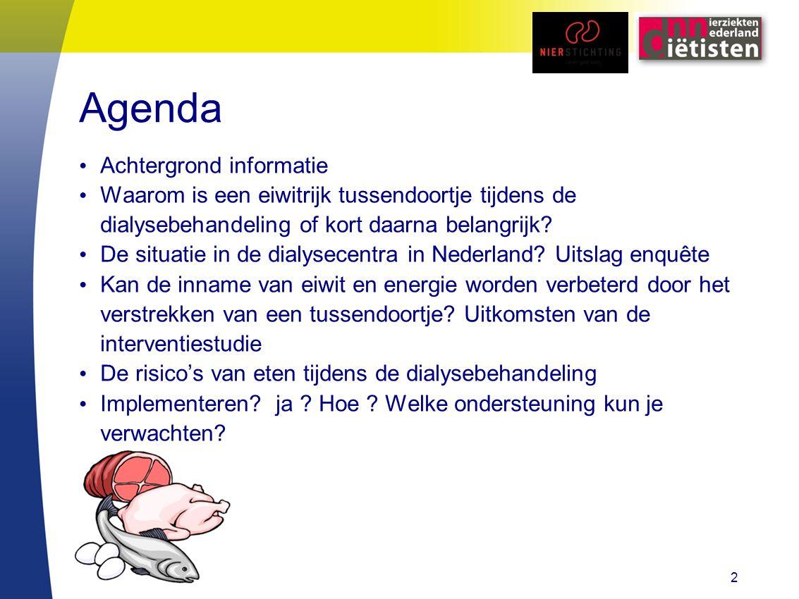 Agenda Achtergrond informatie