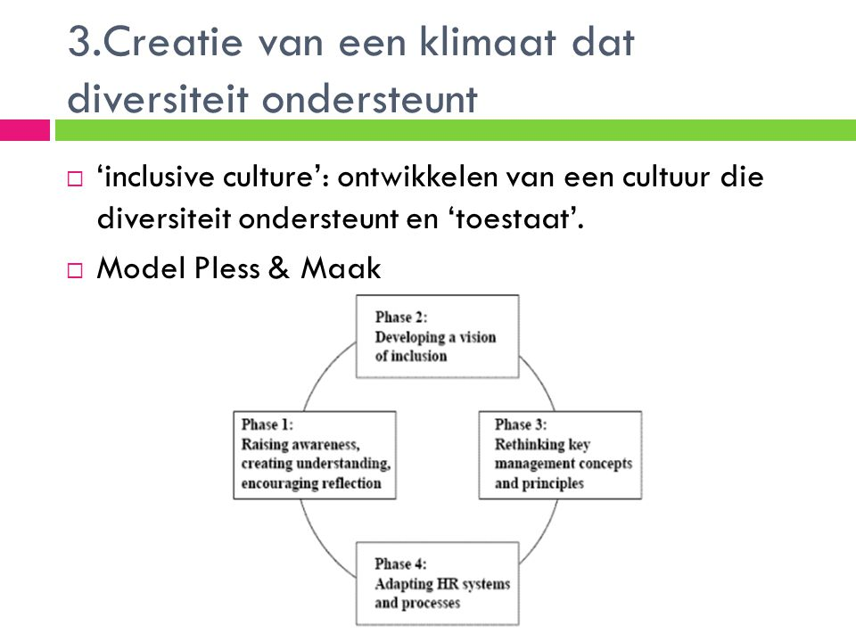3.Creatie van een klimaat dat diversiteit ondersteunt