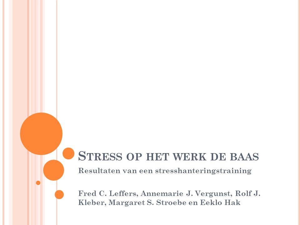 Stress op het werk de baas