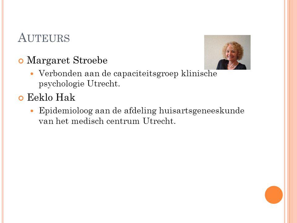 Auteurs Margaret Stroebe Eeklo Hak