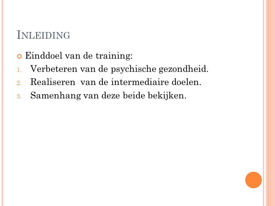 Inleiding Einddoel van de training: