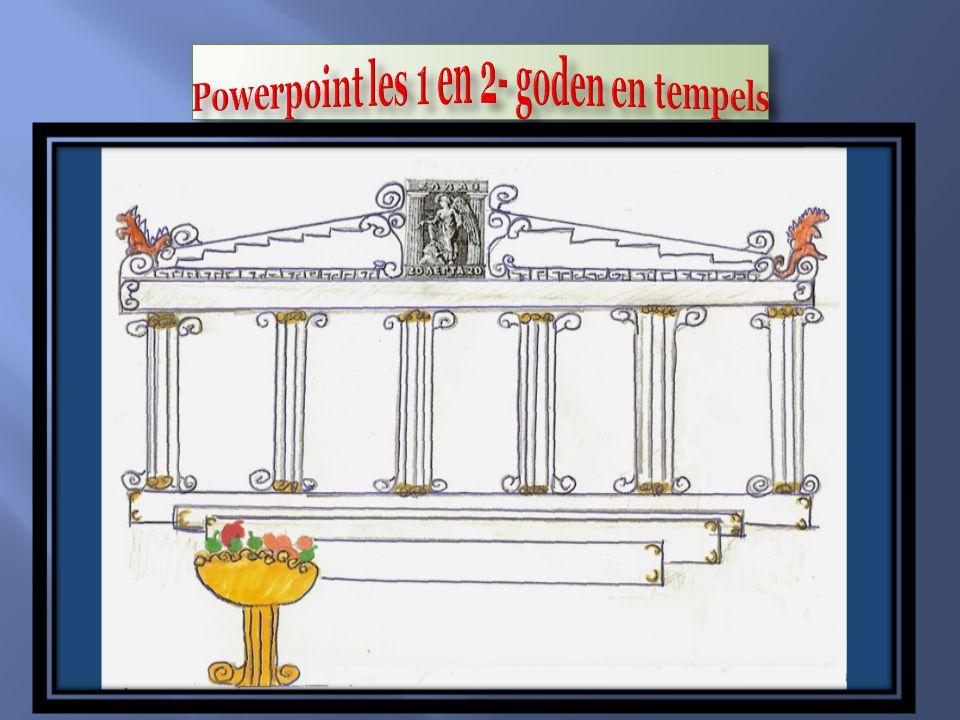 Powerpoint les 1 en 2- goden en tempels