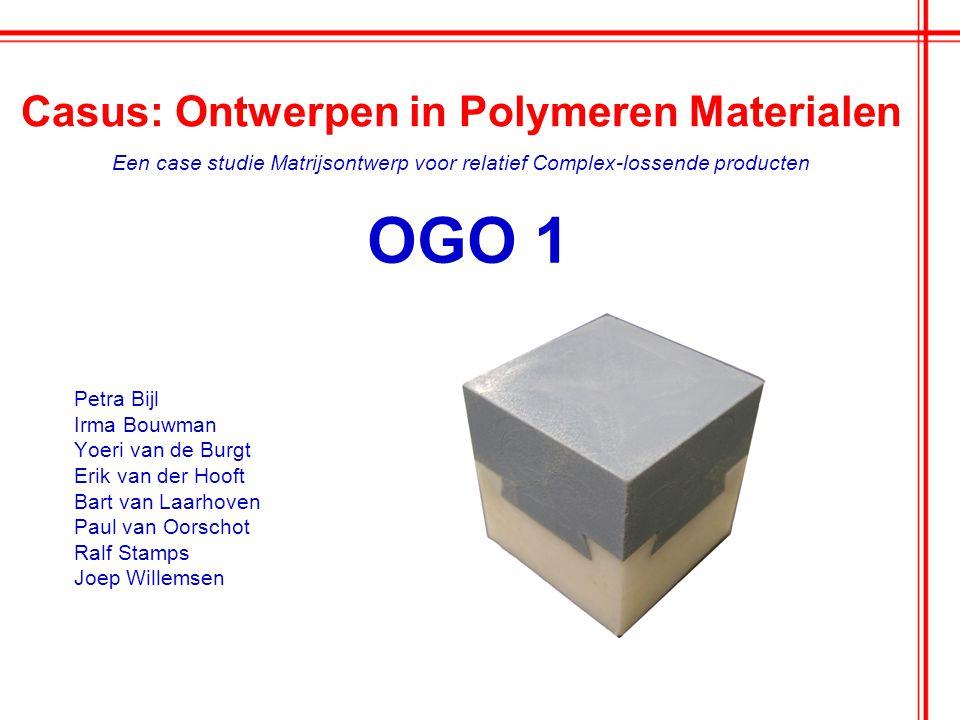 Casus: Ontwerpen in Polymeren Materialen