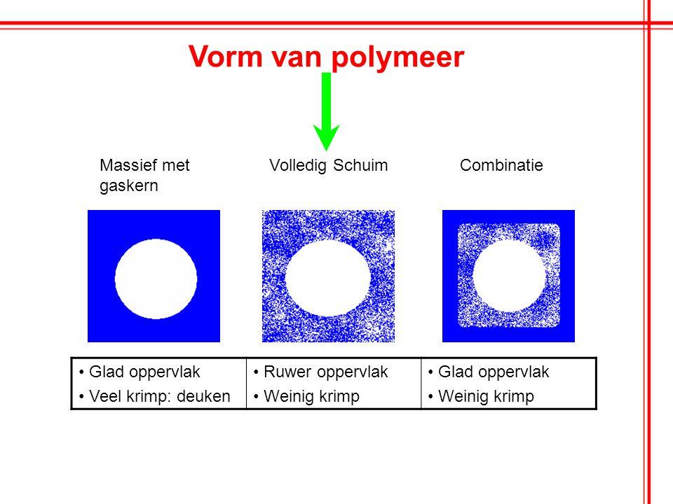 Vorm van polymeer Massief met gaskern Volledig Schuim Combinatie