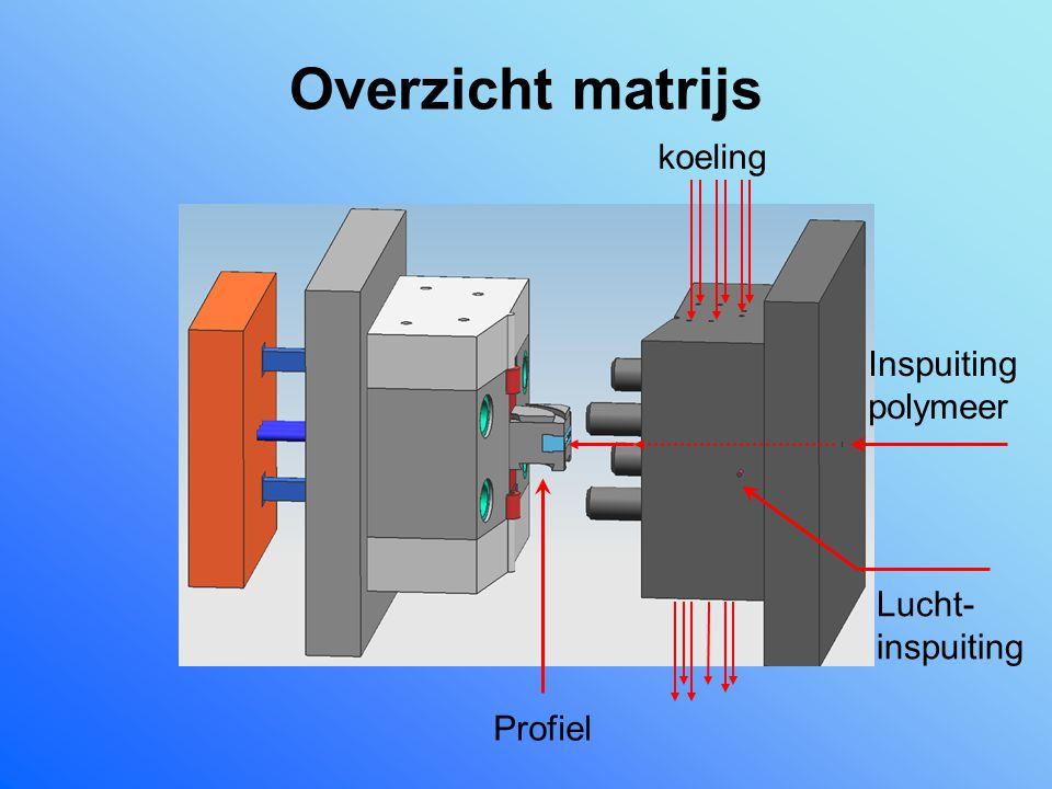 Overzicht matrijs koeling Inspuiting polymeer Lucht-inspuiting Profiel