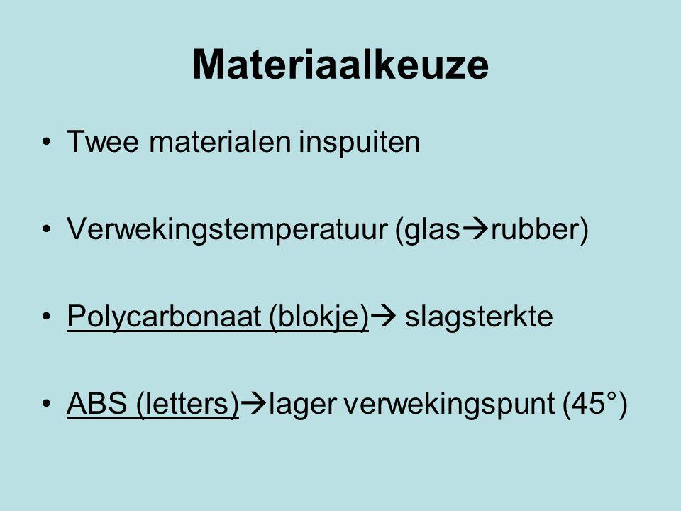 Materiaalkeuze Twee materialen inspuiten