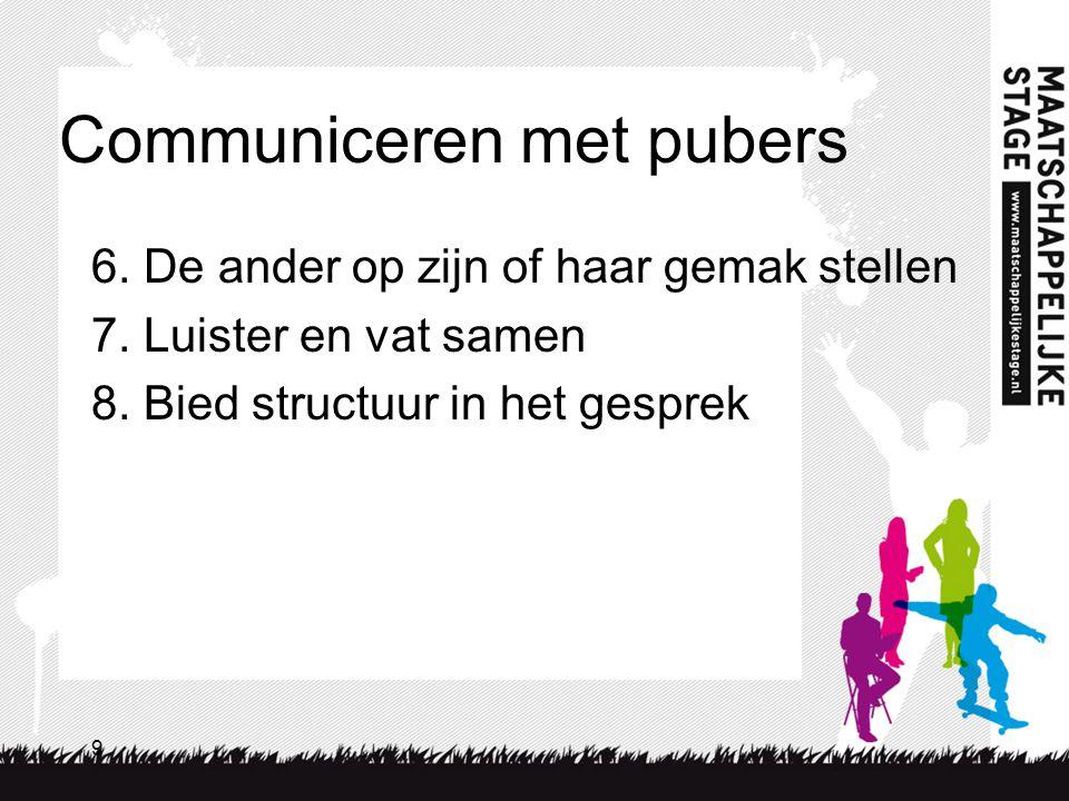 Communiceren met pubers
