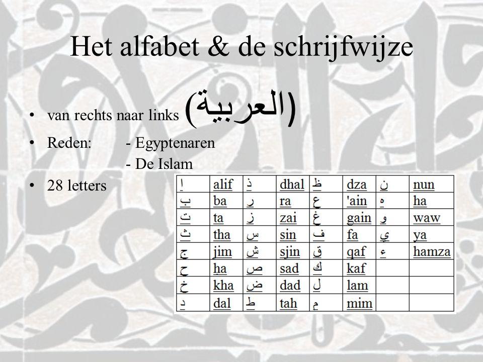 Het alfabet & de schrijfwijze