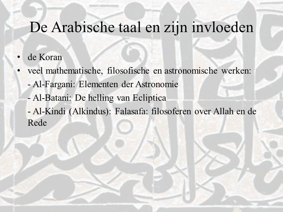 De Arabische taal en zijn invloeden