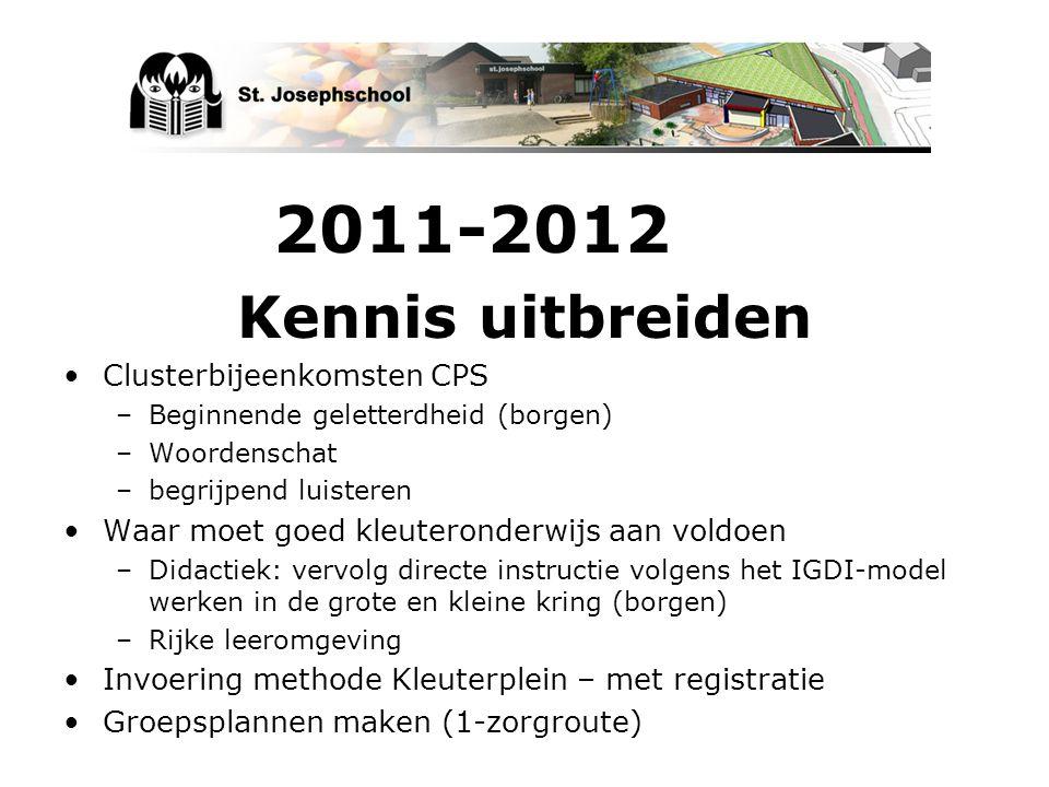 Kennis uitbreiden 2011-2012 Clusterbijeenkomsten CPS