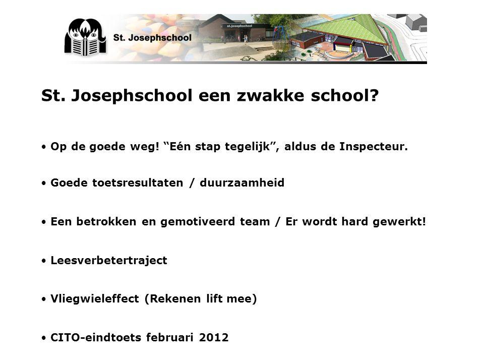 St. Josephschool een zwakke school