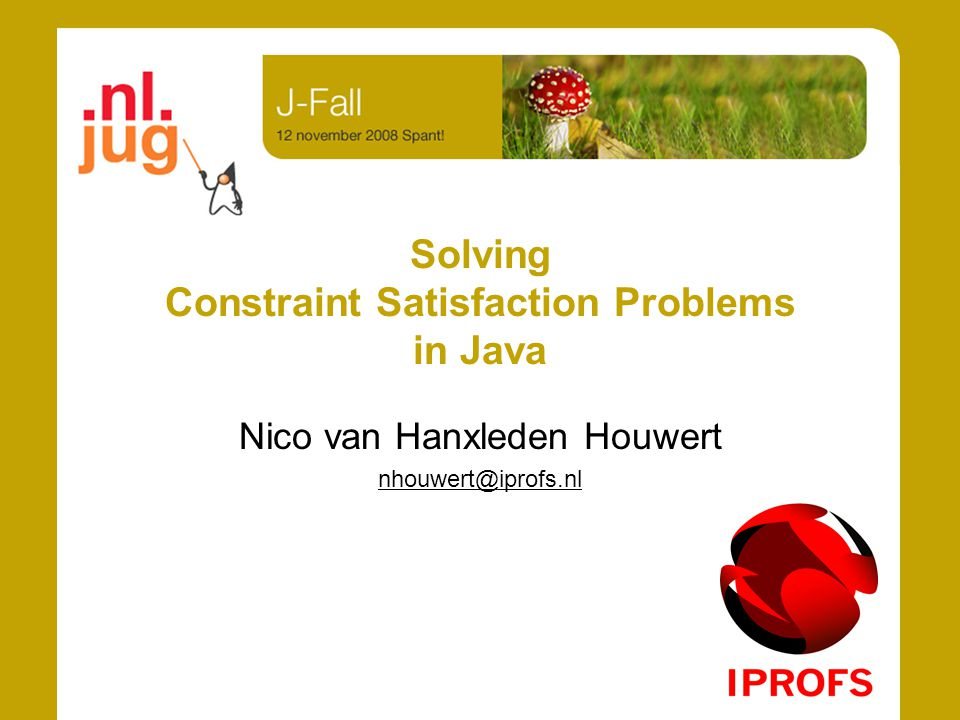 Solving Constraint Satisfaction Problems in Java