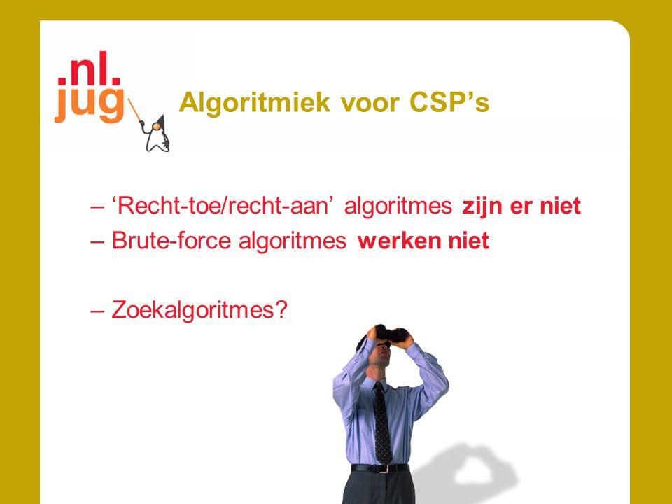 Algoritmiek voor CSP's