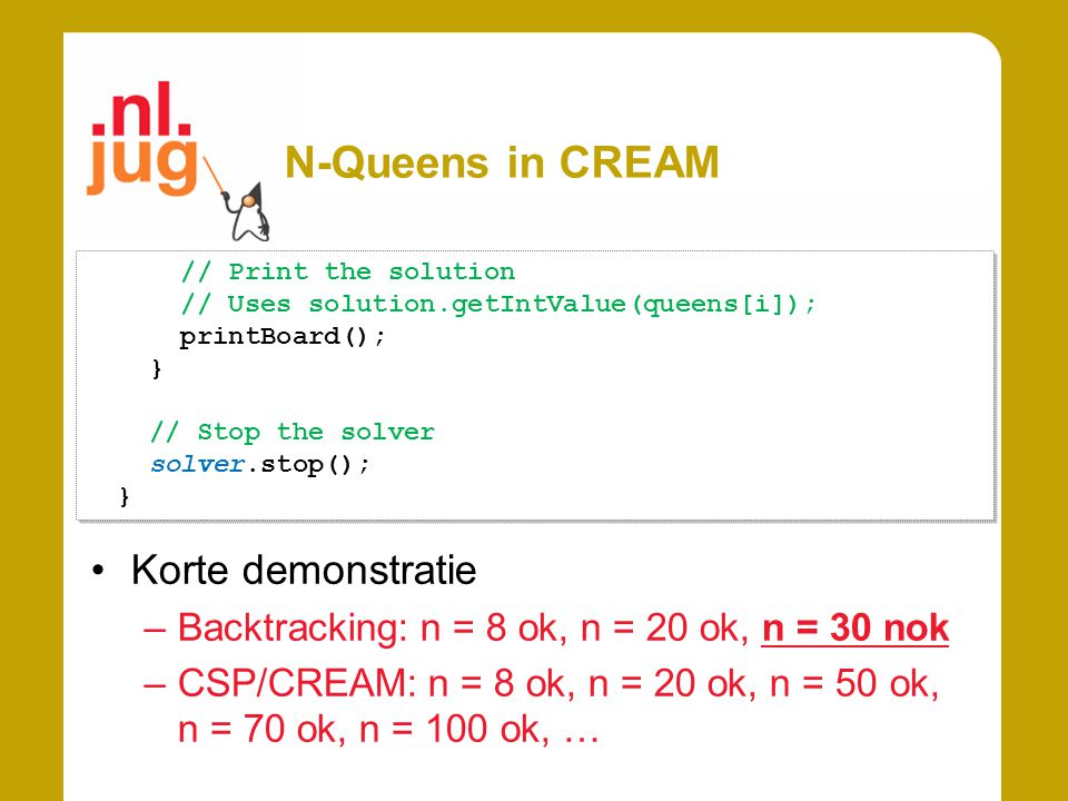 N-Queens in CREAM Korte demonstratie