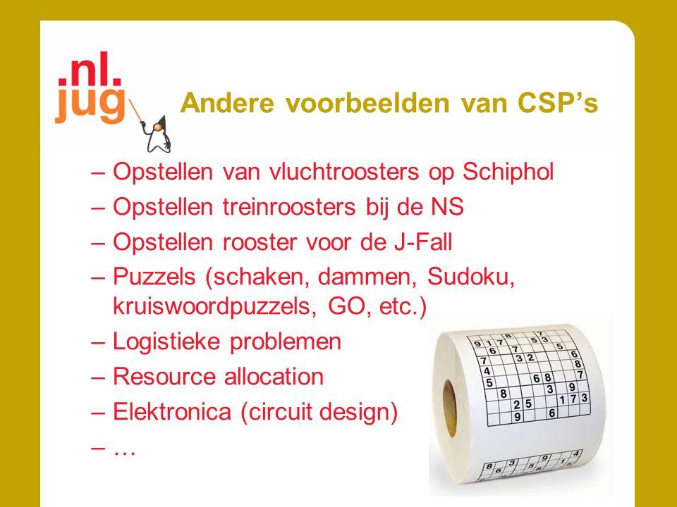 Andere voorbeelden van CSP's