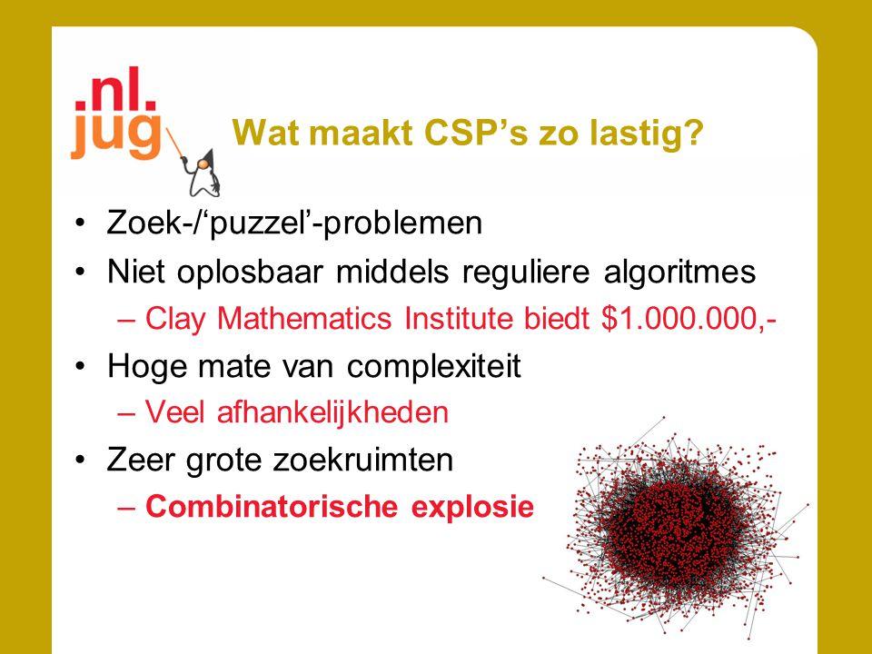 Wat maakt CSP's zo lastig