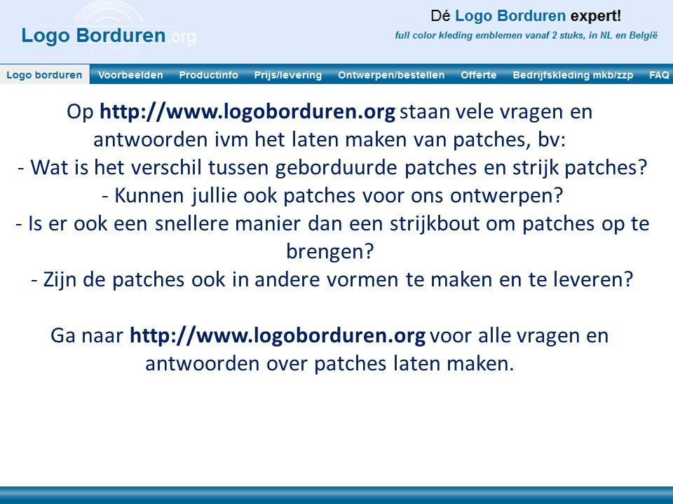 - Wat is het verschil tussen geborduurde patches en strijk patches