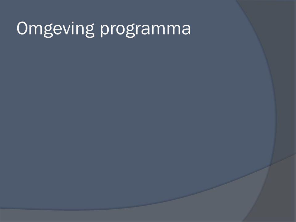 Omgeving programma