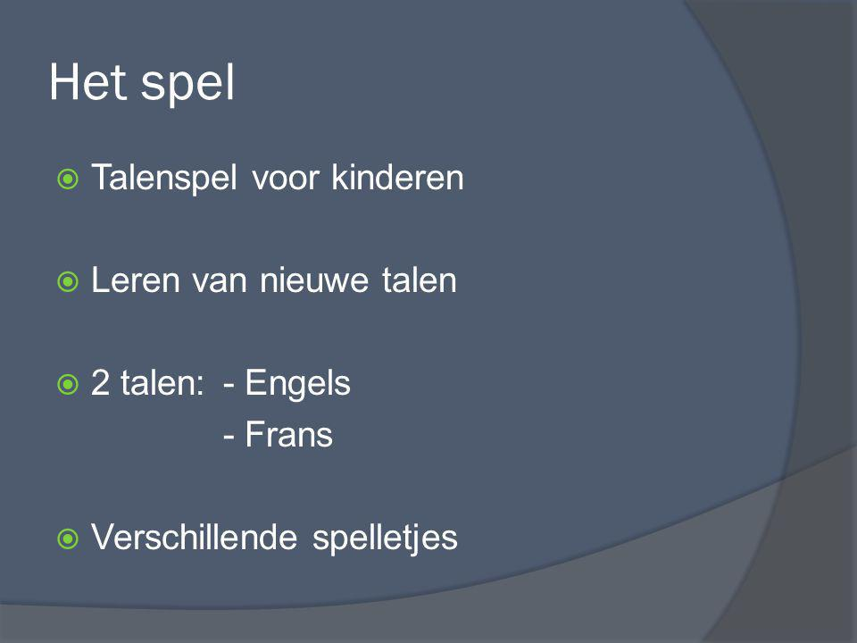 Het spel Talenspel voor kinderen Leren van nieuwe talen