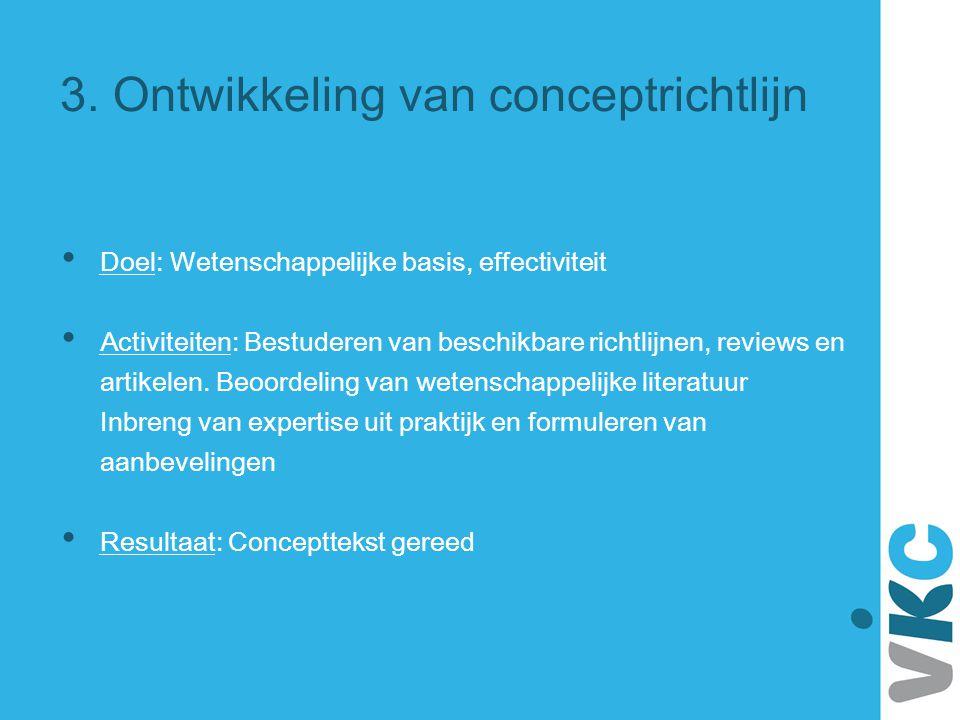 3. Ontwikkeling van conceptrichtlijn